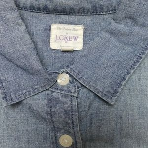 J. Crew Tops - J.Crew The Perfect Shirt Chambray button down